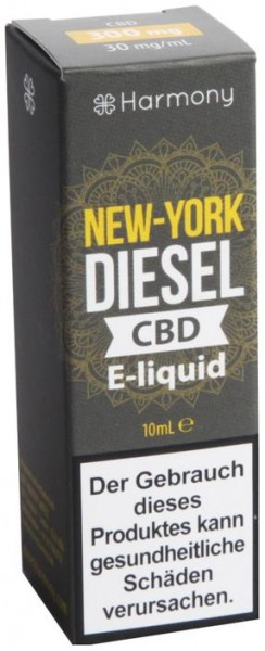 Harmony E-Liquid 300 mg CBD New York Diesel Terpene